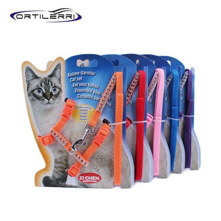 Ortilerri Multi-color Nylon Diamond Pet Dog Cat Harness Dog Leash Safe Fashion Harnais Pour Chien Dog Accessories Arnes Perro