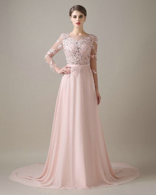 Collection Sleeved Formal Dresses Pictures - Cleida