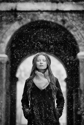 enjoying the moment...Snow Fall, Inspiration, Black White Portraits, Beautiful, Winter Wonderland, Snow Pictures, Fashion Photography, Alexander Sikov