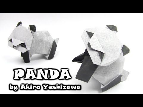 Origami PANDA by Akira Yoshizawa - Yakomoga Origami tutorial