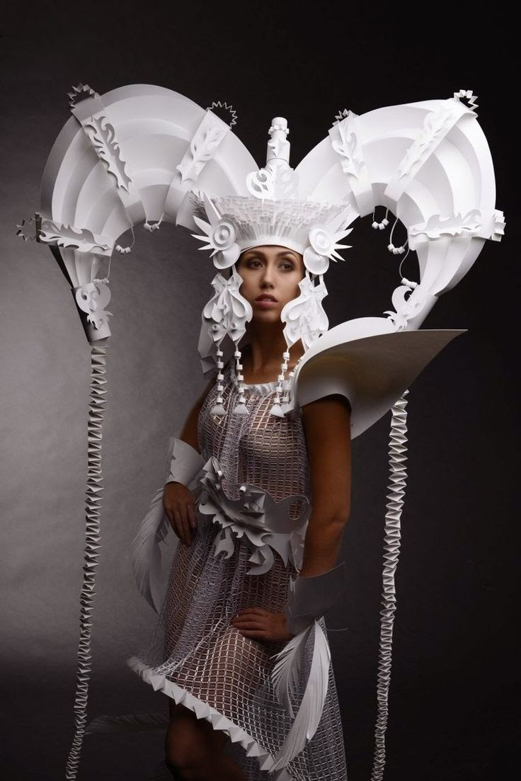 Simply Creative: Paper Mongolian Wedding Costumes by Asya Kozina