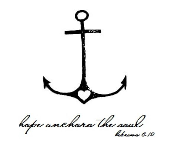 Couples tattoo anchor