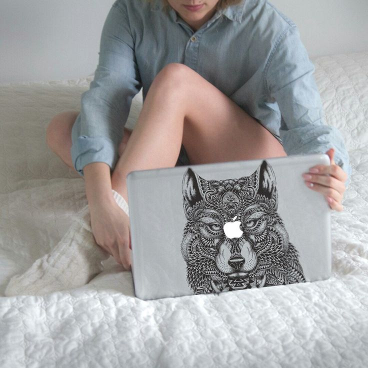 Lone Wolf Mac 12 Case MacBook Air 13 Cover by CreativeMacBookCases