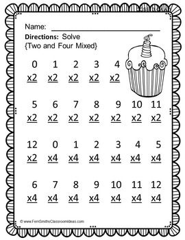3rd Grade Go Math Chapter Four 4.1 Color By Numbers