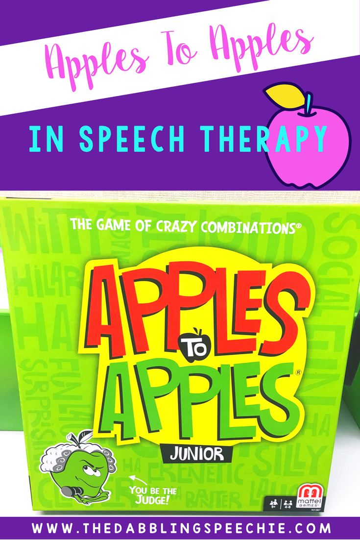 Need more ways to use the apples to apples game in speech therapy? You can use apples to apples to target articulation, language and social skills!