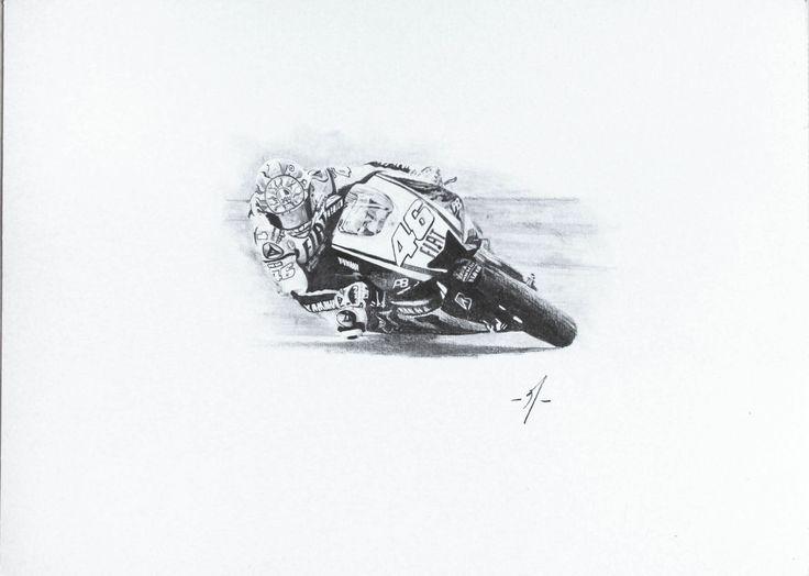 Valentino Rossi´s portrait. graphite on paper