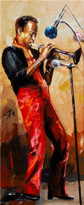 Victor Bauer (b.1969) —  Miles Davis (287x700)