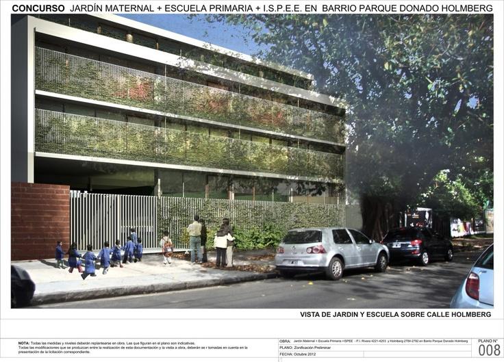 """Menção no Concurso """"Hacia una Nueva Arquitectura Escolar"""" / Giordano + Eusebio + Fernández de Lema + Sánchez"""