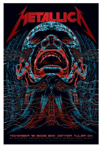 Metallica Concert Poster by Ken Taylor