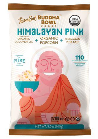 The original organic popcorn made with himalayan pink salt