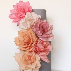 Coffee filter flowers ~ a super cheap, pretty and fun DIY decor idea!: Paper Rose, Ideas, Miso Baking, Weddings, Paper Flowers, Wedding Cakes, Coffee Filters, Memorial Filters, Rose Cakes
