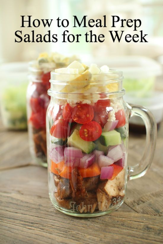 How to Meal Prep Salads for the Week!