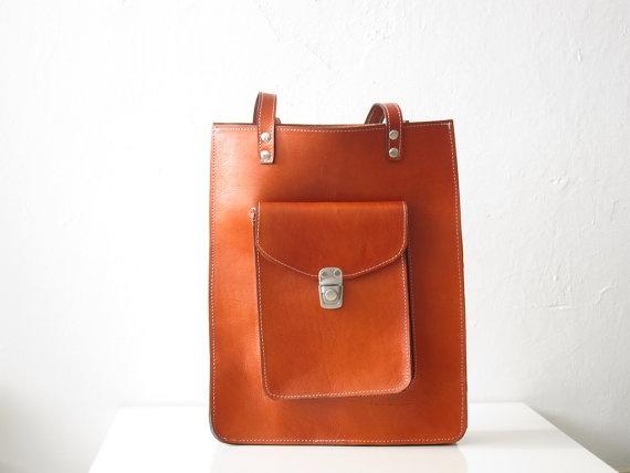 golden ponies Pamela leather tote bag