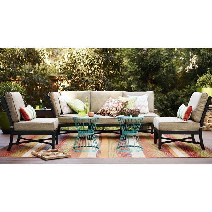 Carpet Art Deco Sunshine Multicolor Rectangular Indoor Outdoor Woven Tropical Area Rug Common 8 X Actual