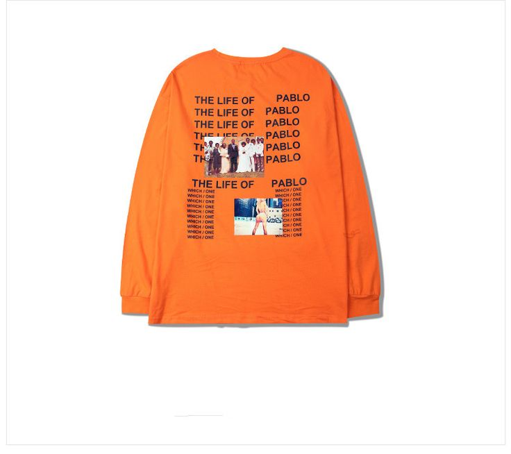 Dmart7dealKanye West Yeezy The I Life Of Pablo Kanye T-Shirt I Feel like Paul Kanye Orange Tee