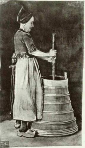 Woman Churning Butter - Vincent van Gogh