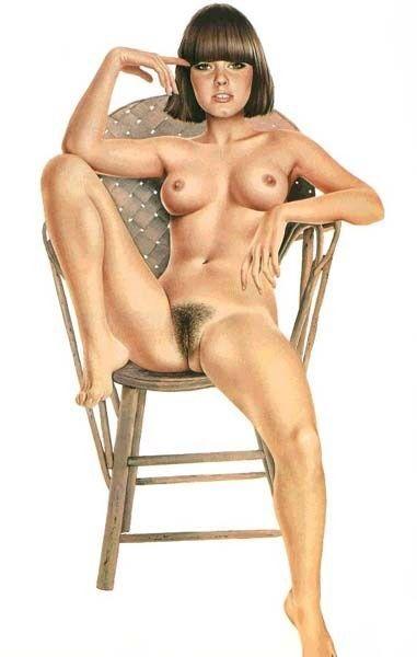 Brunette glamour naked models