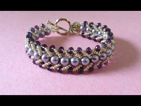 How to make a beautiful and easy pearl bracelet - YouTube