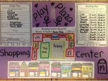 Perimeter and Area Performance Task-Build your own Mini-Mall: Grade Math, Classroom Math, Junior Math, Math Fun Intervention, Grade3 Math, Math Ideas, Bloom Math, Education Math, Math 10 3