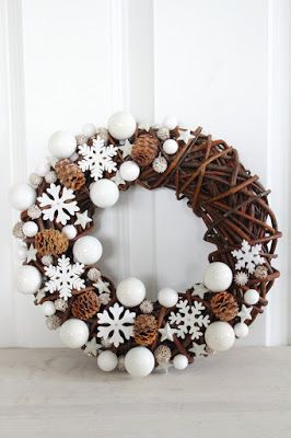 Winter Wreath (Not Christmas themed) with snowflakes