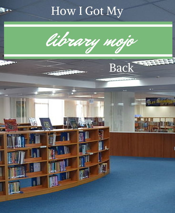 How I Got My Library Mojo Back - Elementary Librarian. Get more school library ideas at http://elementarylibrarian.com