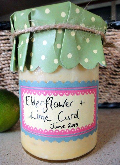 Yum! Elderflower Curd: A Recipe For Gluttony blog #recipe #elderflower