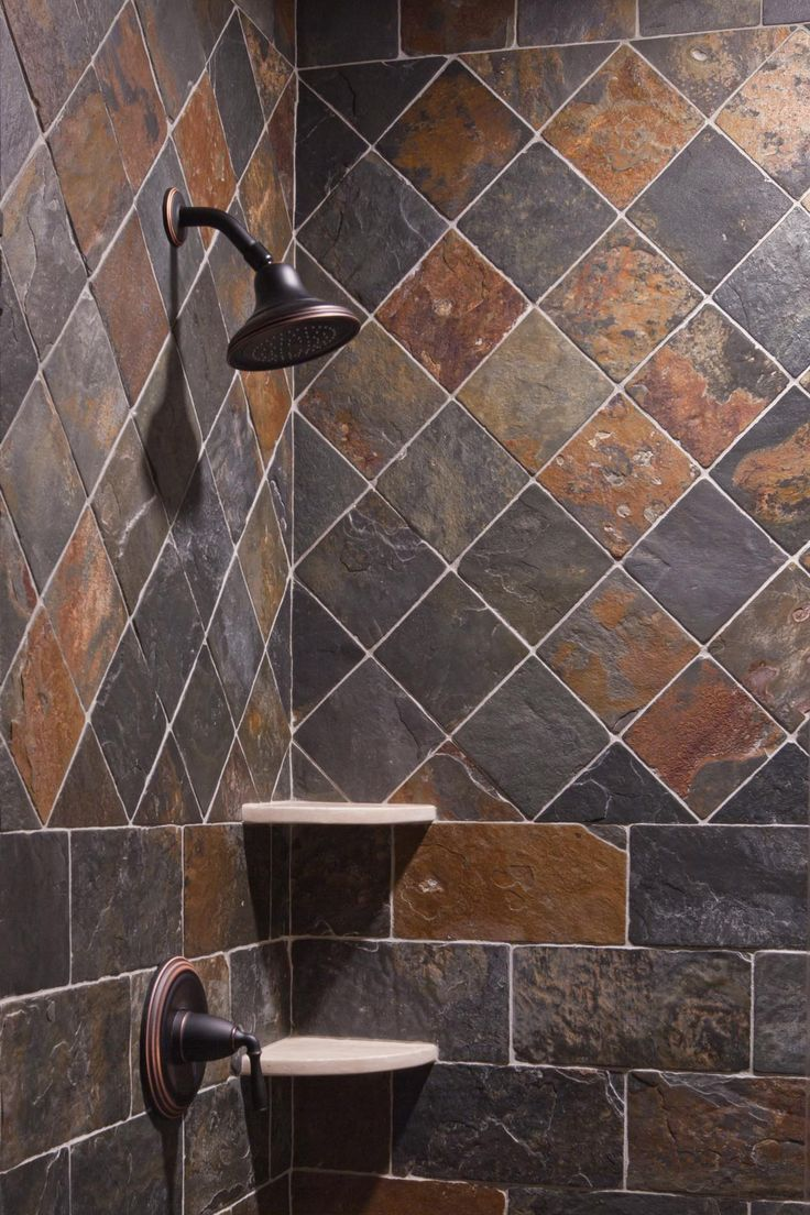 Slate Shower Bathrooms Pinterest Tile Design Showers And Slate