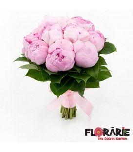 Buchet mireasa bujori roz