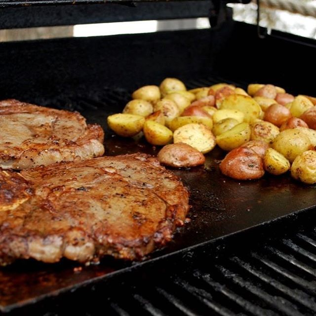 Just a steak and potatoes kinda day 😎  Cooked on our Primal Stones of course!