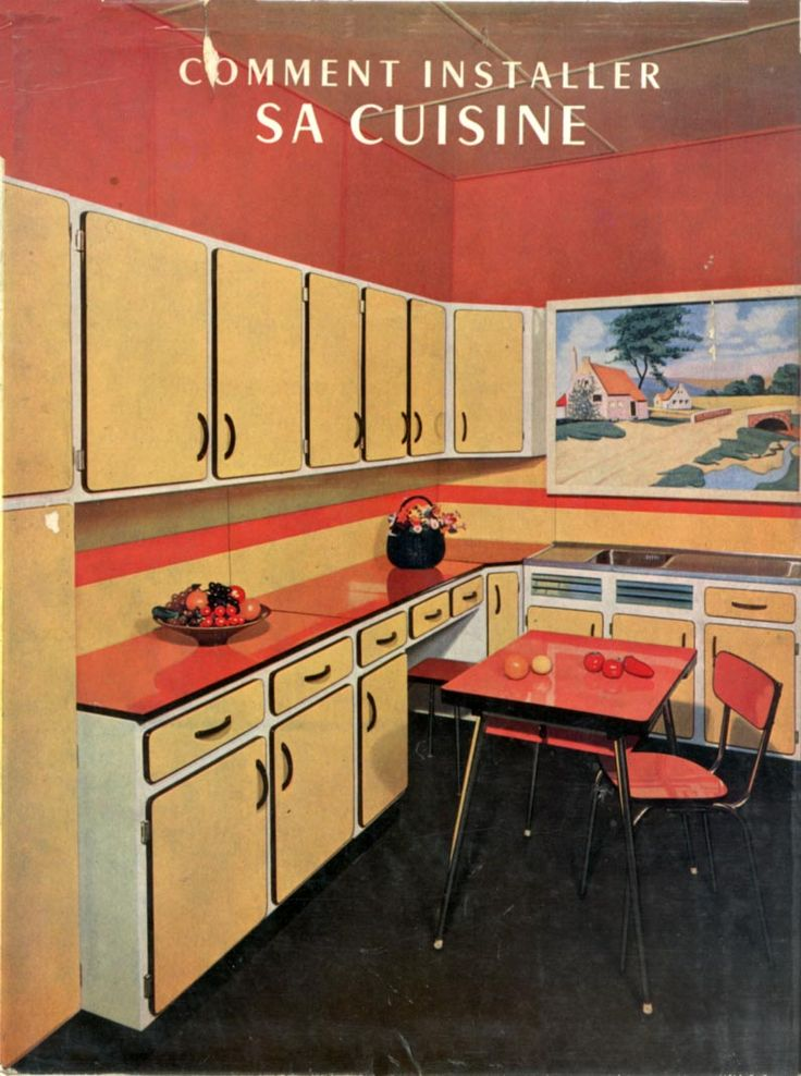 Extrêmement 17 best Cuisines Vintage images on Pinterest | Vintage kitchen  EJ08