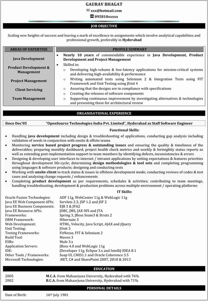 Java Developer Resume 2 Years Experience New Resume Taranjeet Singh 3 5 Years Java J2ee Gwt In 2020 Resume Format Job Resume Samples Sample Resume