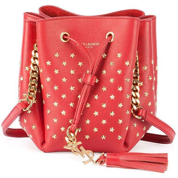 849c6d58f1fb Saint Laurent Monogram Small Star Studded Bucket Bag ( 2