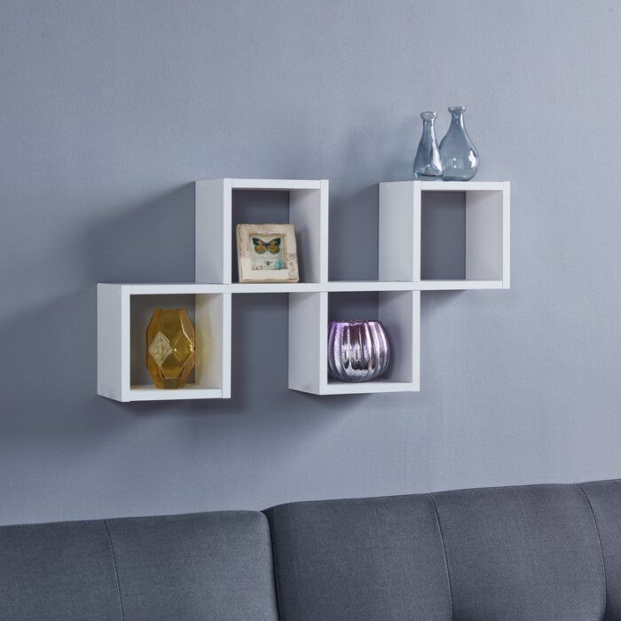 5 Piece Square Cubby Shelf Wall Shelves Floating Wall Shelves Wall Cubbies
