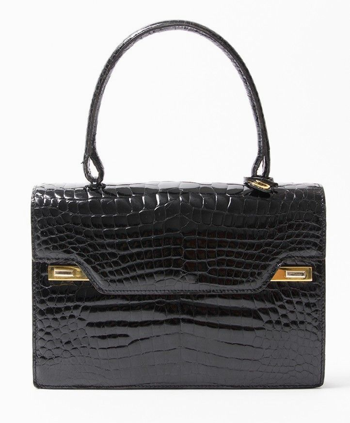 281873e55f98e buy safe online second hand designer vintage delvaux croco top handle bag  best price second hand designer vintage leather  purses and  handbags   ...