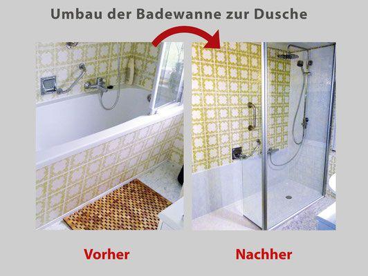 was kostet der umbau von badewanne zur dusche ber ideen zu. Black Bedroom Furniture Sets. Home Design Ideas