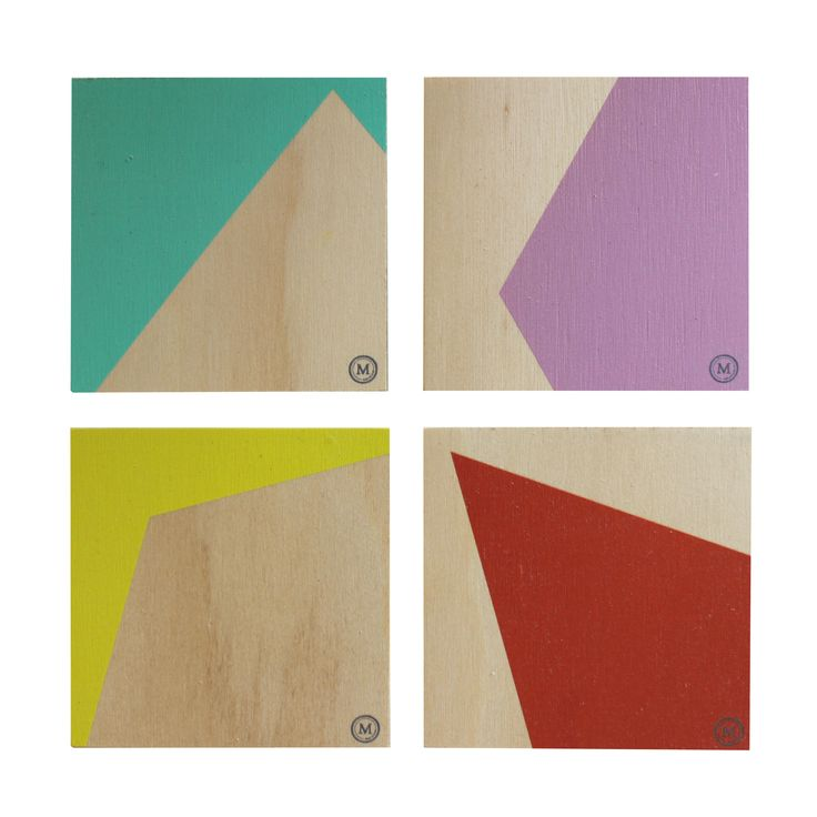 CLIFF EDGE - GUM DROPS These coasters in this fun and playful colour palette are a great addition to any coffee table! See our website for matching placemats also. Dimensions per Coaster: 100mm (w) x 100mm (h) x 9mm (d) $30 Set of 4 / $50 Set of 8