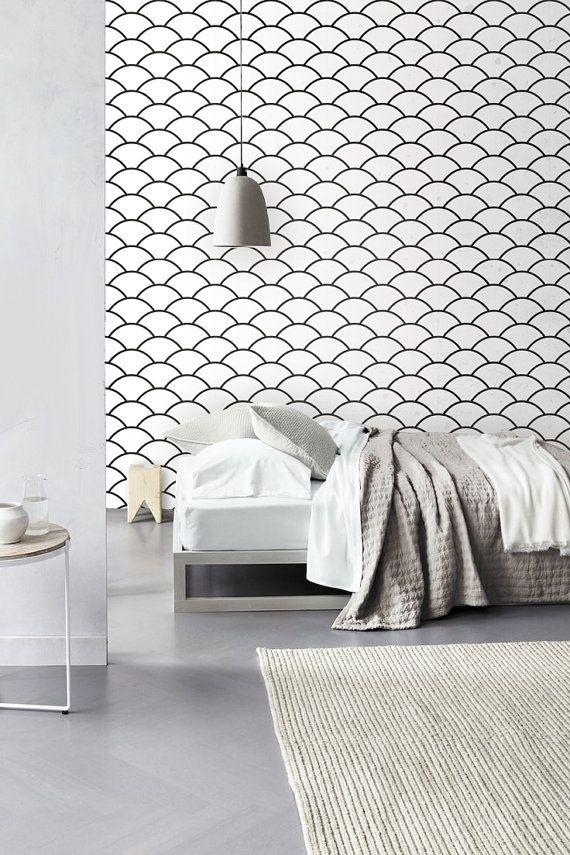 SIZE    - Small: 20.9 x 48 - Large: 20.9 x 96 - Custom sizes are available on request :)    DETAILS    - Peel and stick wallpaper  - Easy to install and