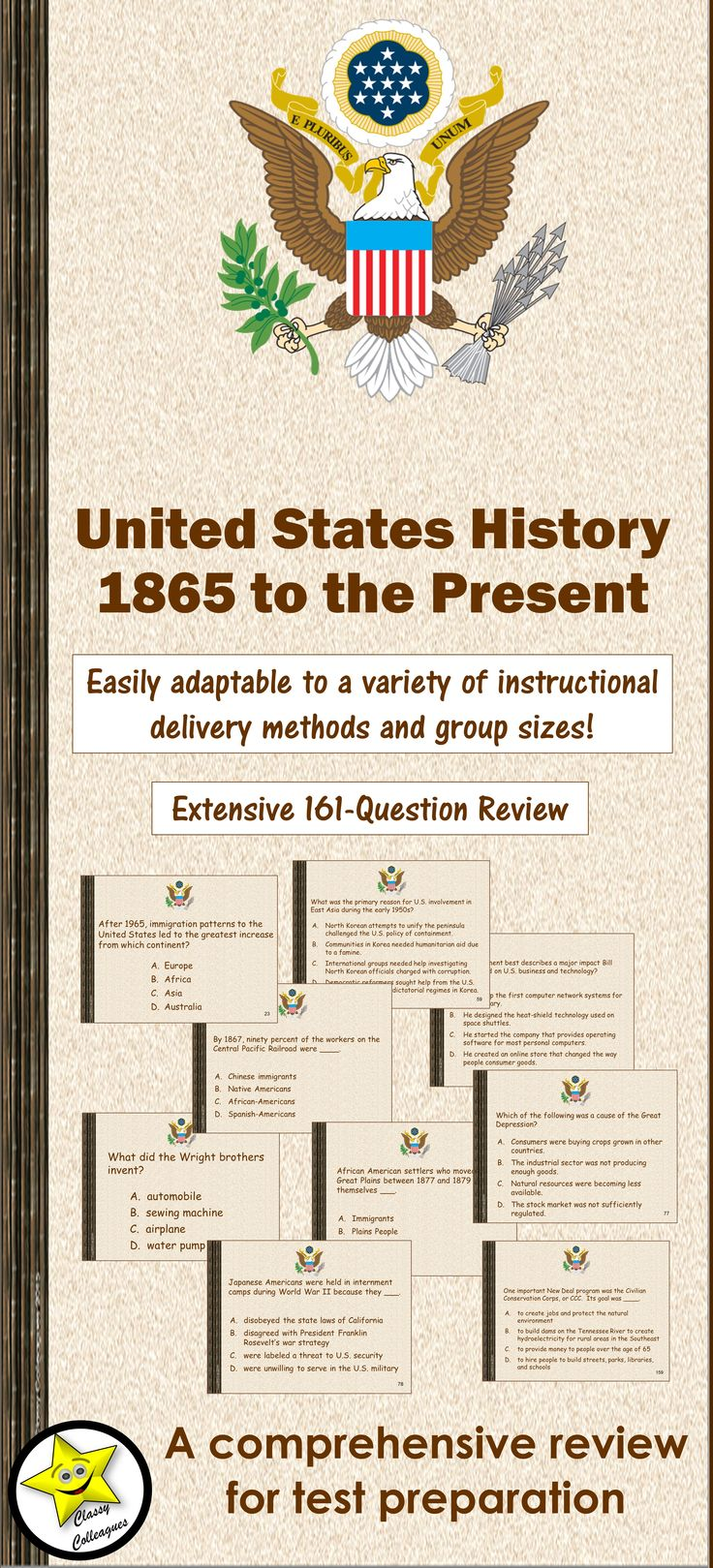 u s history since 1865 Term/year instructors section class title view spring 2018: phoebe sk young: 100: us history since 1865: pdf : spring 2018: s chris baker.
