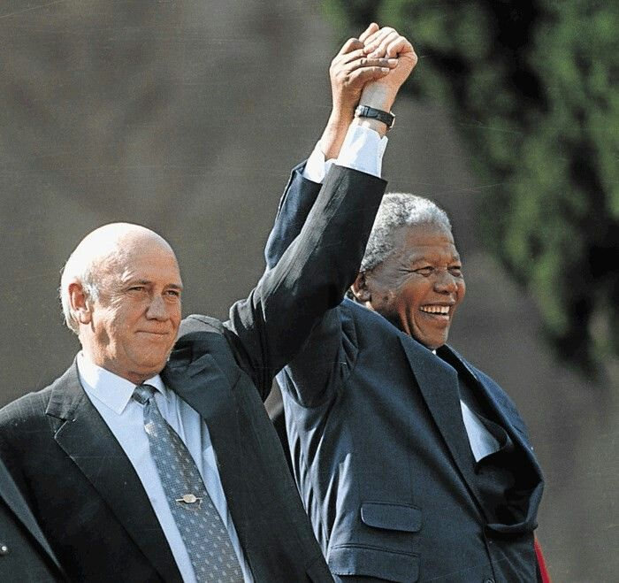 The truce that saved South Africa from itself #NelsonMandela and De Klerk...
