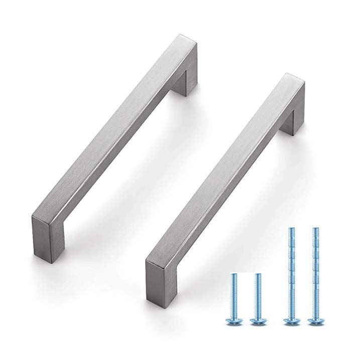 Ravinte 30 Pack 5 Inch Kitchen Square Cabinet Handles Satin Nickel