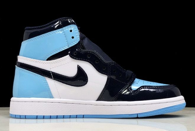 Air Jordan 1 Retro High Og Unc Patent Obsidian Blue Chill White Cd0461 401 6 Womens Shoes Wedges Sneakers Men