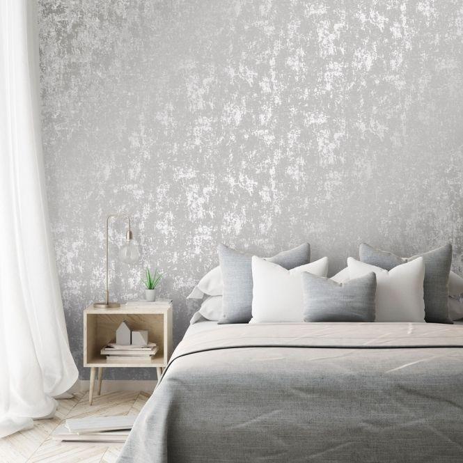 Milan Metallic Taustakuva Harmaa Hopea In 2020 Grey Wallpaper Living Room Grey Wallpaper Bedroom Feature Wall Bedroom