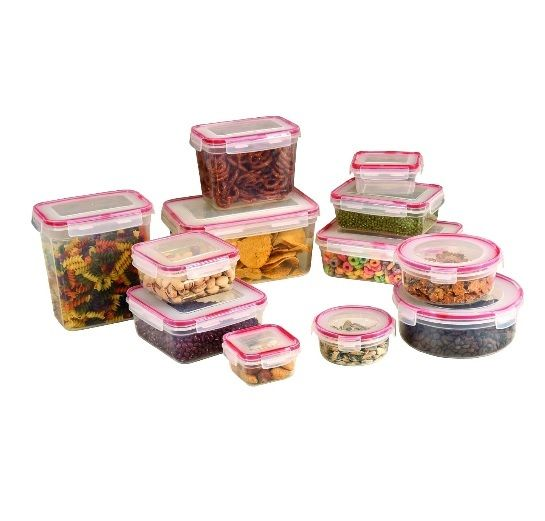Food Storage Set Container 24 Piece Canister Pyrex Bowls Plastic Lock Kitchen This Food Storage Set has click & lock airtight soft-grip lids are easy to open & close. A set of twelve(12) covered food storage containers constructed in food grade plastic & keeps food fresh. Freezer, microwave and dishwasher safe. Containers nest for easy storage. Food Storage Set Features: Set includes twelve(12) food storage containers Material: Food grade plastic Freezer, microwave & dishwasher safe…