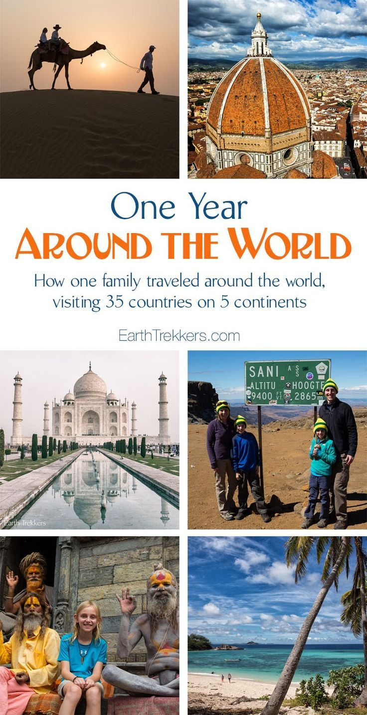 One Year Around the World. How one family traveled around the world, visiting 35 countries on 5 continents.