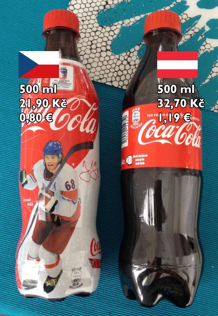 """Kola 1/3: """"Kokačka"""" byla předem prohraná bitva. Jak je všeobecně známo, česká Coca-Cola ji začala šidit a místo cukru přidává fruktózo-glukózový sirup. Jinak je složení na obou stranách hranice stejné: voda, vybrané sladidlo, oxid uhličitý, E 150 d - barvivo karamel, E 338 - kyselina fosforečná, přírodní aroma, kofein."""