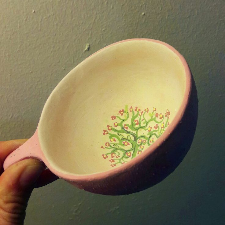 Flowers in the cup   Ceramic, teacup, cup, sunartceramic
