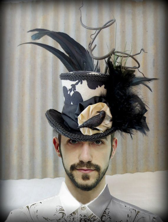 Crow hat: etsy.com Shirt: Just Cavalli