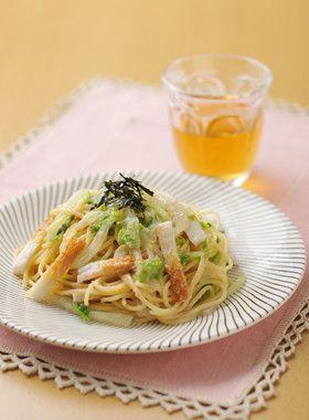 白菜とちくわのたらこスパゲティ by 日清フーズ [クックパッド] 簡単 ...