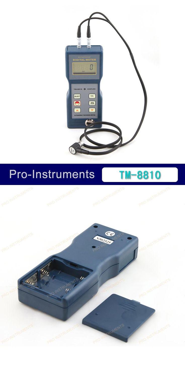 [Visit to Buy] Lantek 4 Digit LCD Digital Pipe Wall Thickness Gauge Ultrasonic Thickness Meter TM-8810 #Advertisement
