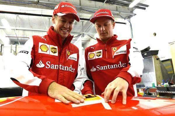 Sebastian Vettel and Kimi Räikkönen #thebests